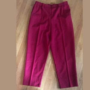 Alfred Dunner Women's Red Dress Pants - Size 14